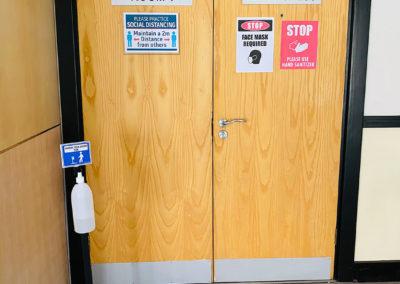 Covid-19 Protocols sanitisation stations Belmont Square Conference Center