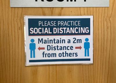 Covid-19 Protocols social distancing Belmont Square Conference Center